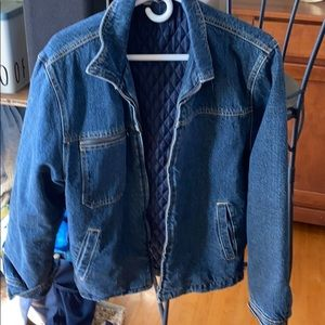 Denim lined quilted jacket